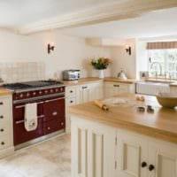 кухня в стиле кантри фото декор