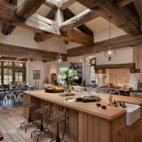 кухня в стиле кантри фото декора