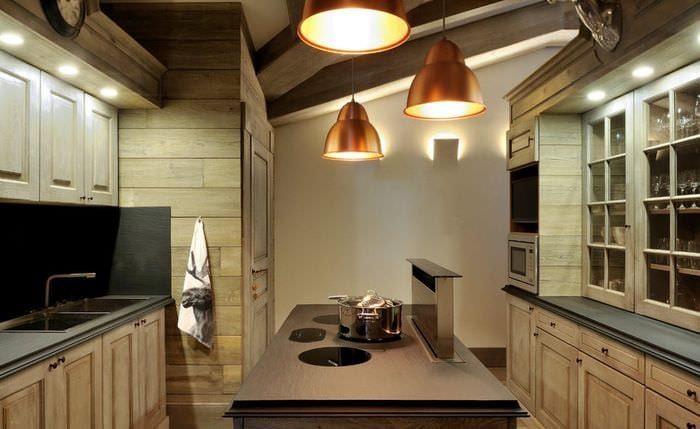 гарнитур на кухне кантри
