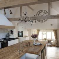 кухня в стиле кантри интерьер фото
