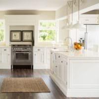 кухня в стиле кантри светлая