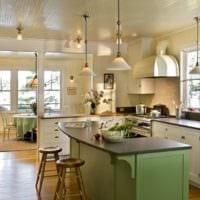 кухня в стиле кантри в квартире
