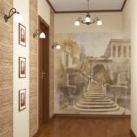 маленький коридор прихожая стильный дизайн