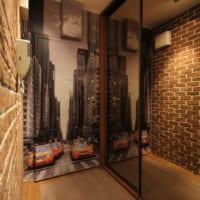 маленький коридор прихожая удобный дизайн