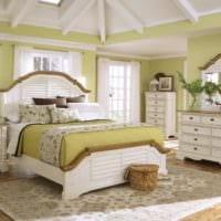дизайн маленькой спальни прованс