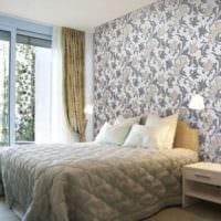 дизайн маленькой спальни обои