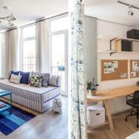 однокомнатная квартира 42 кв м стильный дизайн