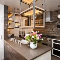 плитка на кухне декор фото