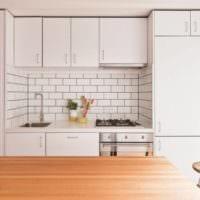 плитка на кухне интерьер