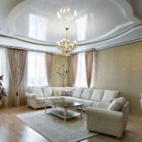 потолок в гостиной интерьер