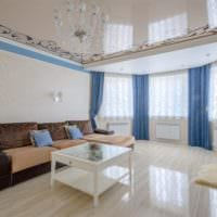 потолок в гостиной натяжной идеи дизайн