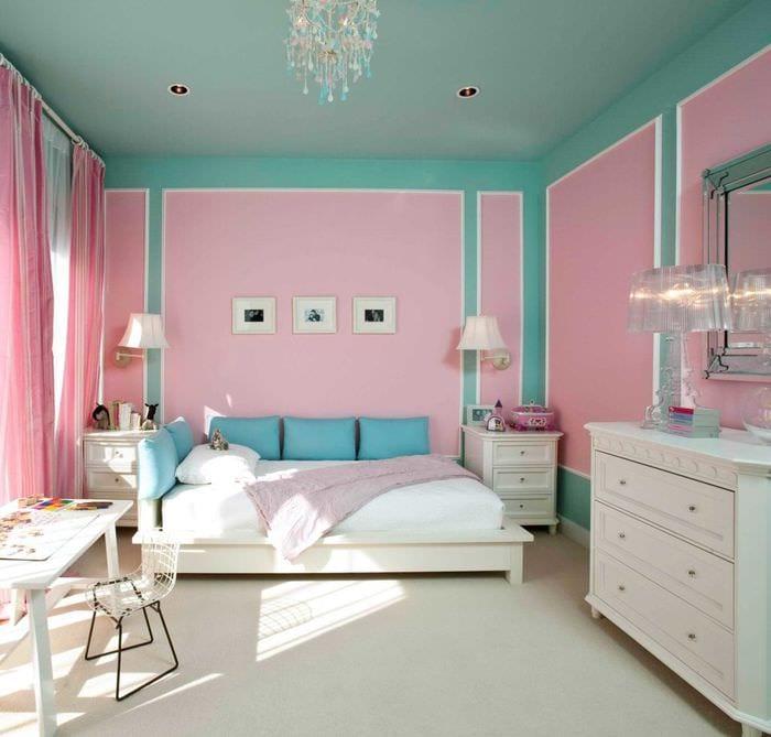 идеи покраски потолка в комнате фото состоит