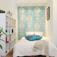 простой дизайн маленькой спальни