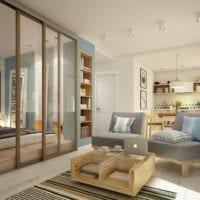 просторный дизайн квартиры 33 м2