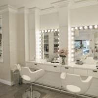 салон красоты парикмахерская светлый дизайн