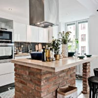 шведский интерьер маленькой кухни