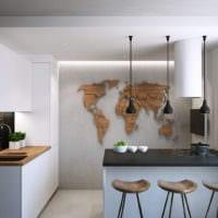 стильный интерьер маленькой кухни