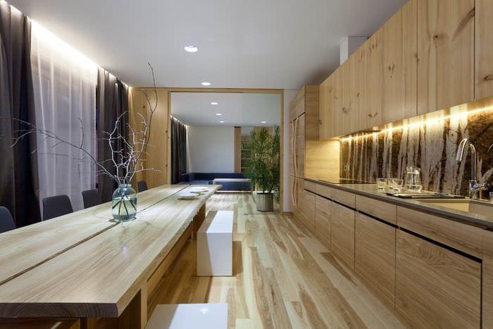 интерьер кухни эко