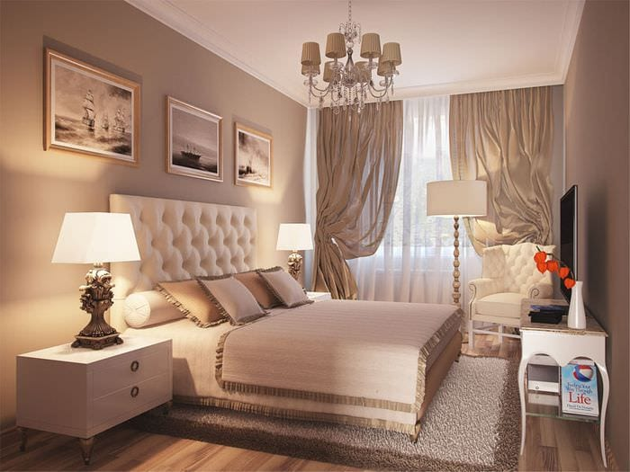 спальня 10 кв м в классическом стиле