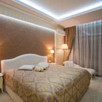 дизайн потолка в спальне идеи фото
