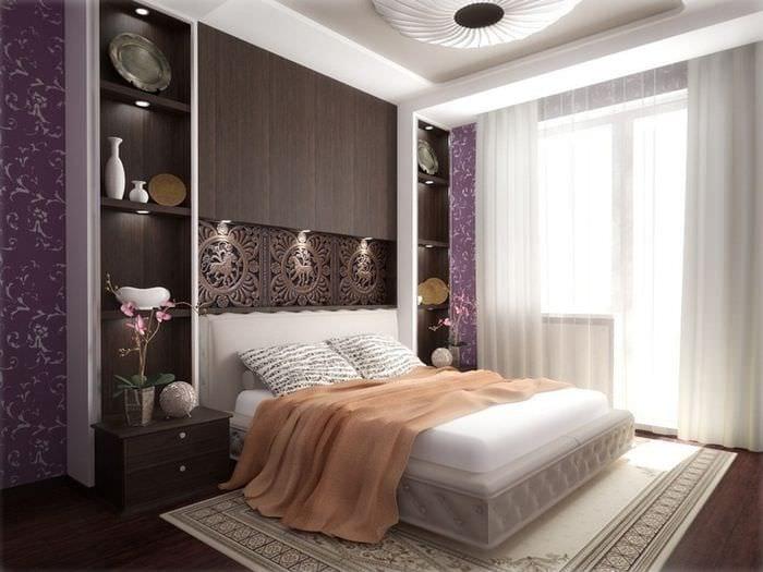 роскошная спальня в строгом стиле