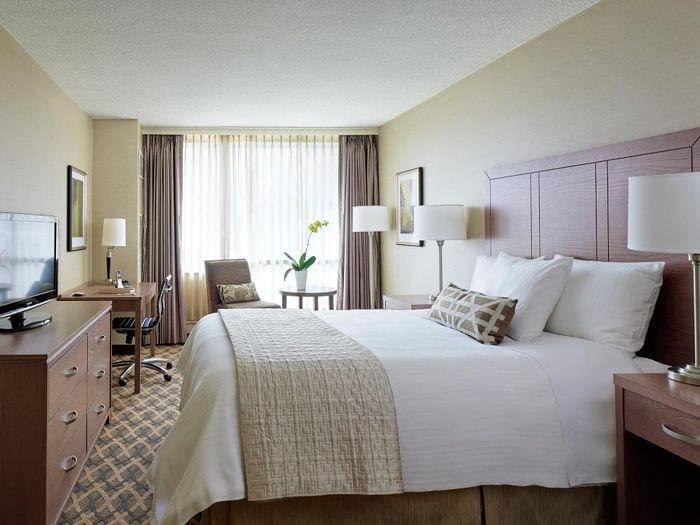 большая кровать в спальне 2018