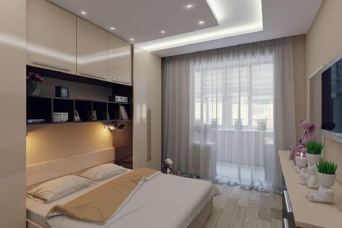 дизайн маленькой спальни 10 кв м