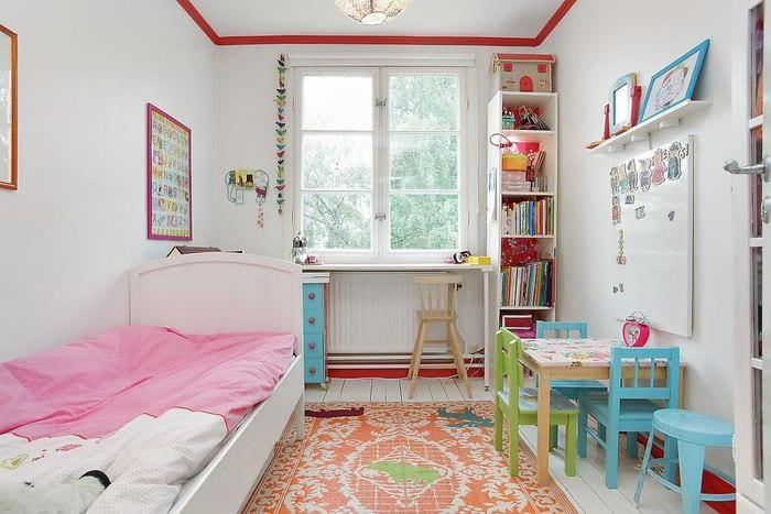 комната прямоугольная детская