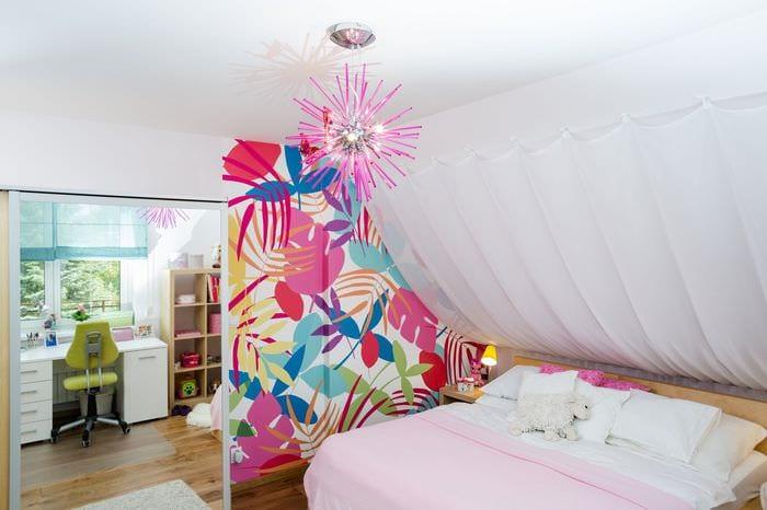 красивый дизайн прямоугольной комнаты