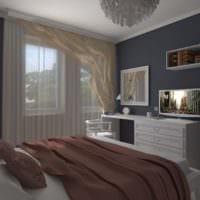 спальня 10 кв м фото декор