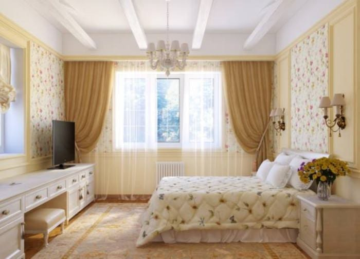 спальня 15 кв м кантри