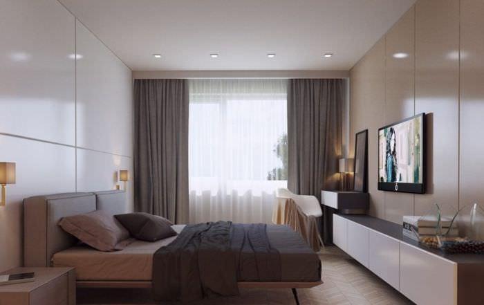 спальня 15 кв м с балконом