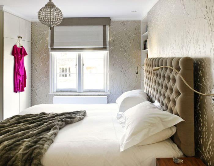 спальня 15 м2 с балконом