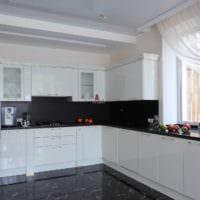 белый кухонный гарнитур оригинальный