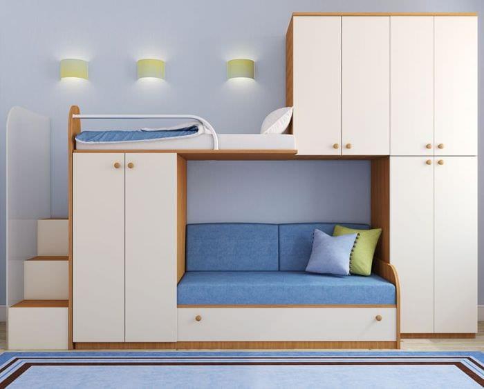 детская кровать в спальне
