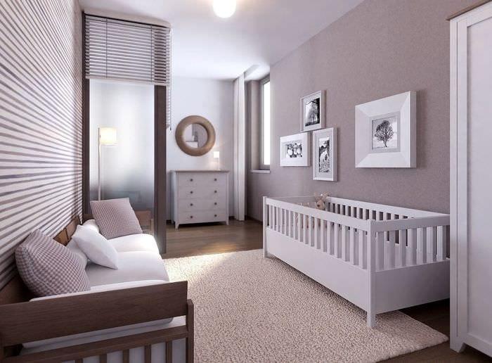 детская кроватка в интерьере