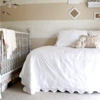 детская в спальной комнате дизайн интерьер