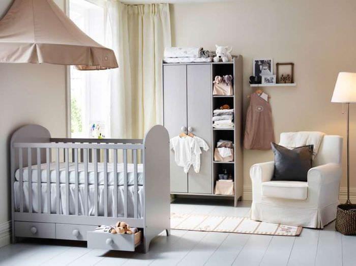 дизайн детской в спальне родителей
