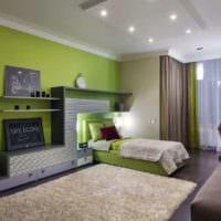 детская в спальной комнате дизайн