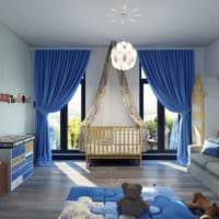 детская в спальной комнате фото интерьер