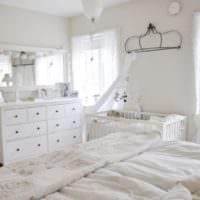 детская в спальной комнате фото интерьера