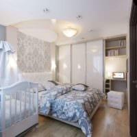 детская в спальной комнате идеи дизайн