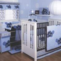 детская в спальной комнате современный дизайн
