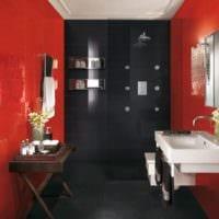 дизайн интерьера узкой ванной комнаты