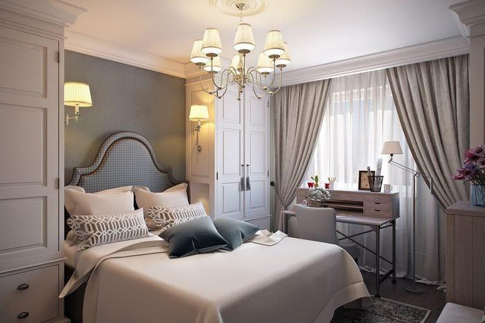 дизайн красивой спальни 11 кв м
