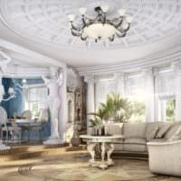 античный дизайн гостиной