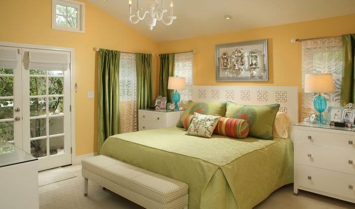 пастельные тона в спальне 16 кв м