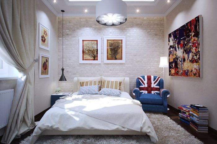 освещение в спальне 16 кв м