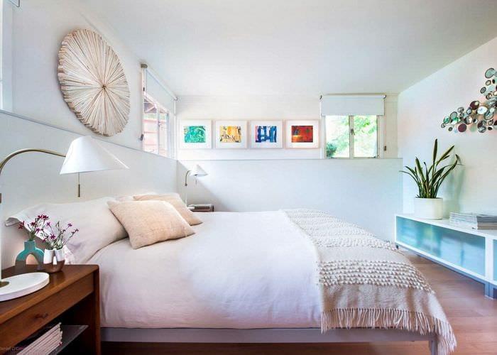 спальня 11 кв м с декором