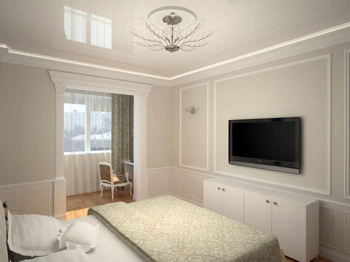 спальня 11 кв м с натяжным потолком